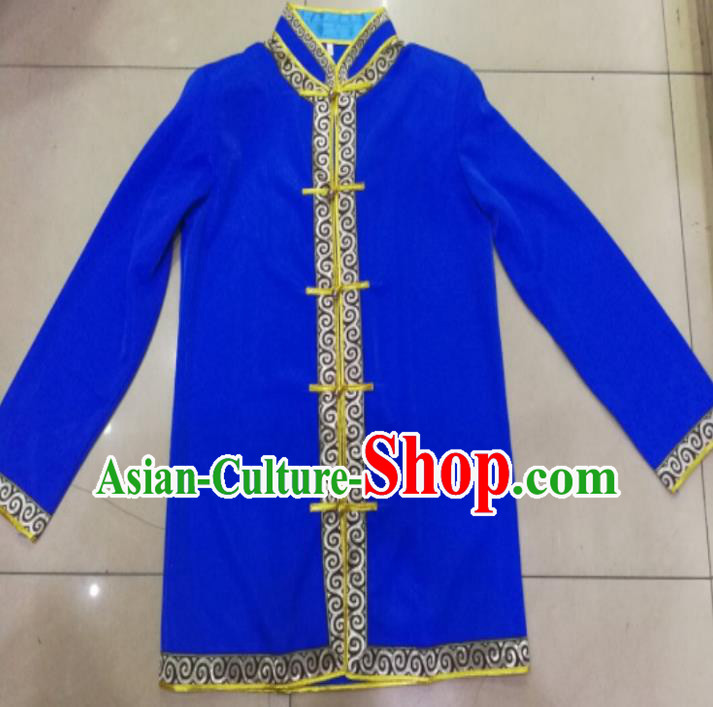 Chinese Traditional Ethnic Shirts Costume, China Mongolian Minority Folk Dance Clothing for Men