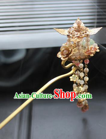 Chinese Ancient Handmade Palace Hair Clip Hair Accessories Hanfu Tassel Hairpins for Women