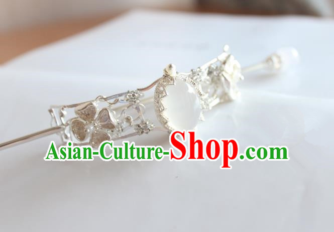 Chinese Ancient Handmade Palace Hairdo Crown Hair Clip Hair Accessories Hanfu Hairpins for Women