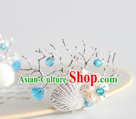 Chinese Ancient Handmade Palace Coral Shell Hair Claw Hair Accessories Hanfu Hairpins for Women