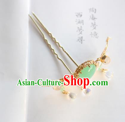 Chinese Ancient Handmade Palace Jade Hair Clip Hair Accessories Hanfu Hairpins for Women