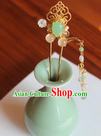 Chinese Ancient Handmade Hair Clip Tassel Step Shake Hair Accessories Hanfu Hairpins for Women