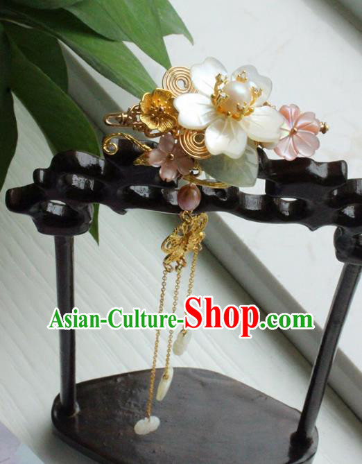 Chinese Ancient Handmade Shell Hair Claw Classical Hair Accessories Hanfu Hairpins for Women