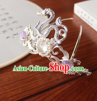 Chinese Ancient Handmade Classical Dragon Hair Comb Hair Accessories Hanfu Hairpins for Women