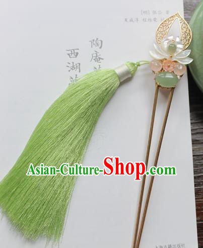 Chinese Ancient Handmade Lotus Hair Clip Hair Accessories Hanfu Hairpins for Women