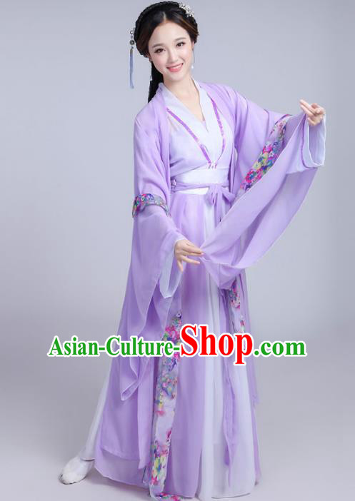 Chinese Ancient Fairy Costumes Tang Dynasty Princess Traditional Hanfu Dress Clothing for Women