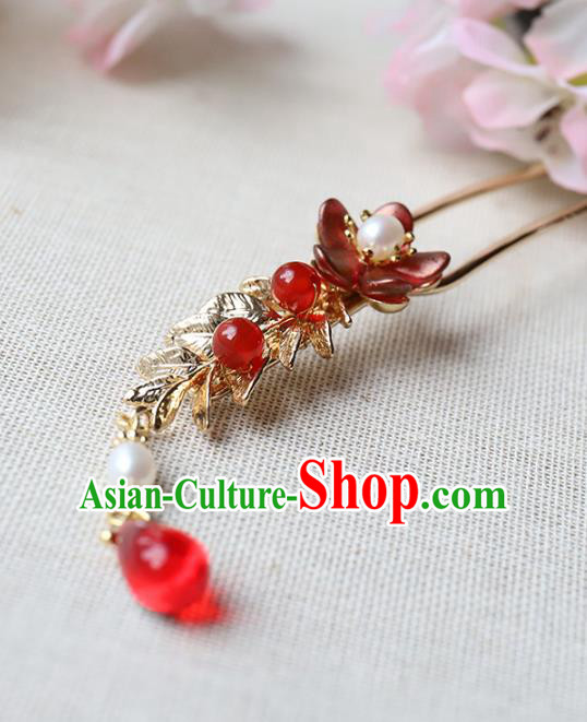 Chinese Ancient Handmade Bride Hair Clip Classical Hair Accessories Hanfu Hairpins for Women