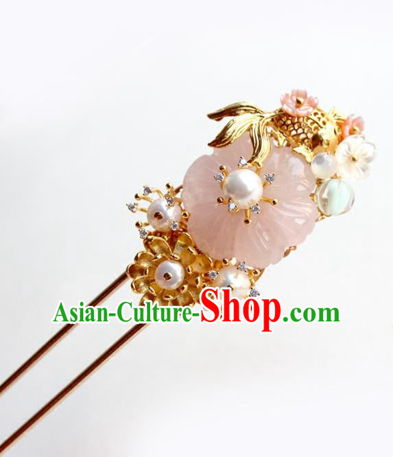 Chinese Ancient Handmade Hair Clip Classical Hair Accessories Hanfu Goldfish Hairpins for Women