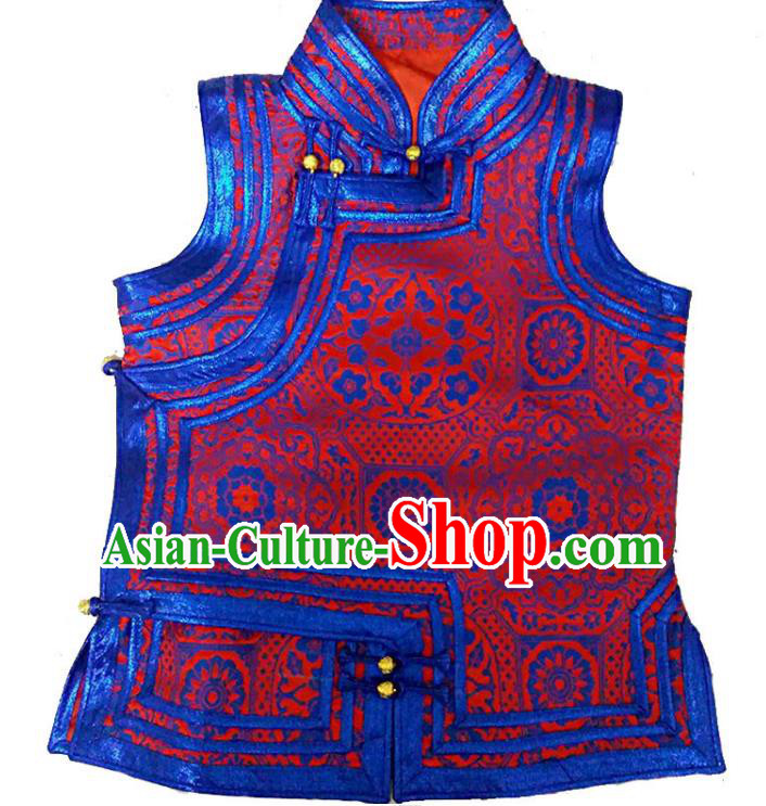 Chinese Mongol Nationality Vest Costume Traditional Mongolian Minority Dress for Women