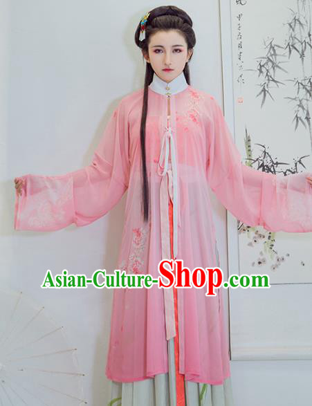 Chinese Ancient Aristocratic Lady Clothing Traditional Ming Dynasty Princess Embroidered Costumes for Women