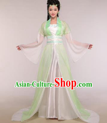 Traditional Chinese Ancient Fairy Costume Tang Dynasty Princess Green Hanfu Dress for Women