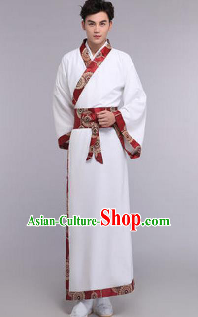 Traditional Chinese Ancient Scholar Costume Han Dynasty Nobility Childe Clothing for Men