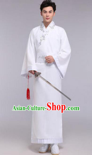 Traditional Chinese Ancient Scholar Costume Han Dynasty Swordsman Hanfu Clothing for Men