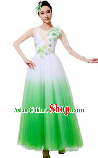 Top Grade Chinese Classical Dance White Dress, Compere Stage Performance Choir Costume for Women