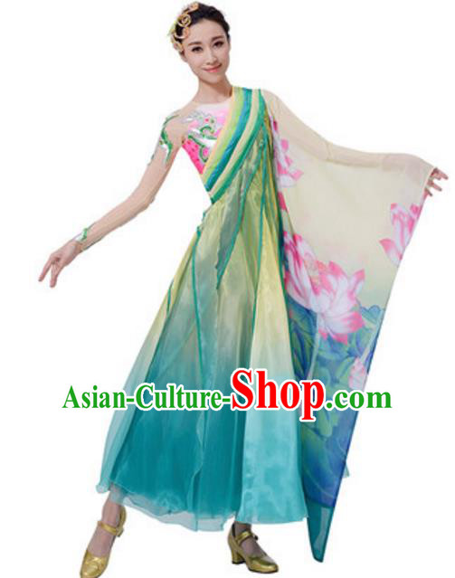 Top Grade Chinese Classical Dance Dress Stage Performance Lotus Dance Costume for Women