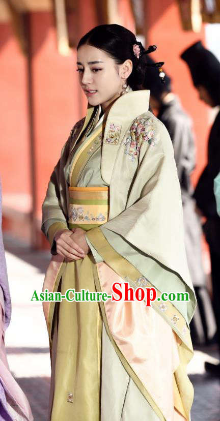 Chinese Ancient Qin Dynasty Imperial Concubine Embroidered Hanfu Dress Imperial Consort Li Costume for Women