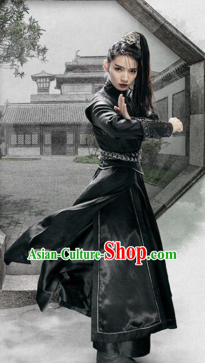 Chinese Ancient Female Swordsman Clothing Chivalrous Women Knight Historical Costume