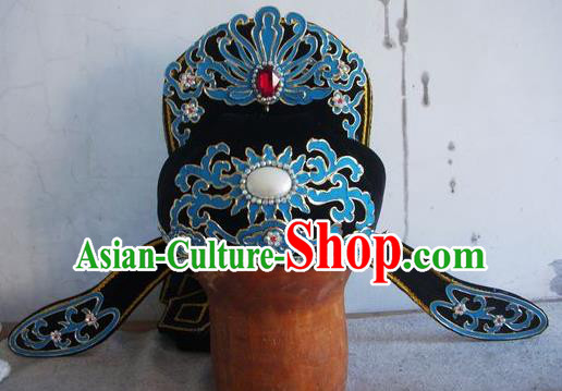 Chinese Traditional Beijing Opera Niche Scholar Hats for Men