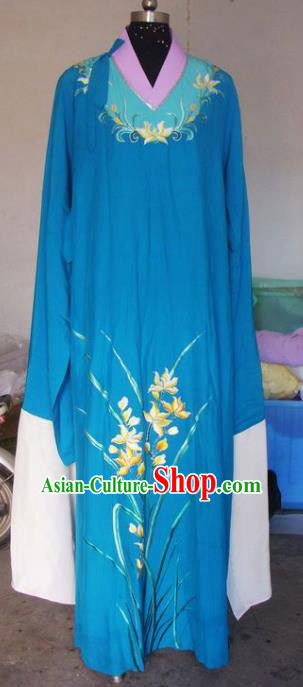 Chinese Traditional Beijing Opera Scholar Costumes China Peking Opera Niche Embroidered Orchid Clothing for Adults