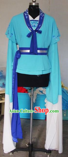 Chinese Traditional Beijing Opera Young Lady Costumes China Peking Opera Maidservants Dress for Adults