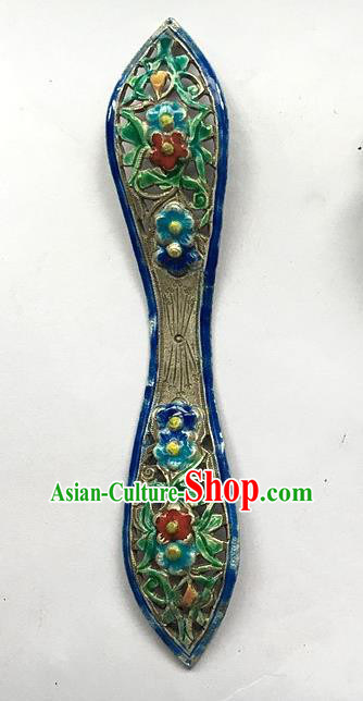Chinese Traditional Ancient Blueing Anaglyph Hair Stick Hanfu Hairpins Hair Accessories for Women