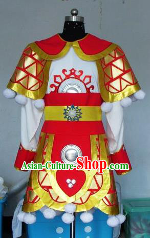 Chinese Traditional Shaoxing Opera General Robe Peking Opera Niche Costumes for Adults