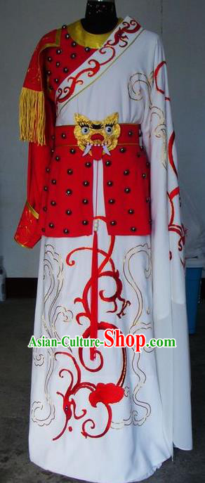 Chinese Traditional Shaoxing Opera General Embroidered Robe Peking Opera Niche Costumes for Adults