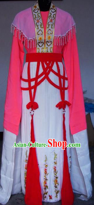 Chinese Traditional Beijing Opera Actress Pink Dress China Peking Opera Embroidered Costumes for Adults