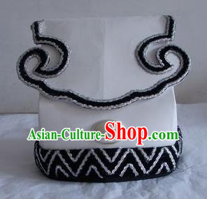 Chinese Traditional Beijing Opera Taoist Priest Scholar White Hats for Men