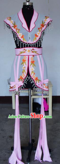 Chinese Traditional Beijing Opera Actress Pink Costumes China Peking Opera Embroidered Dress for Adults
