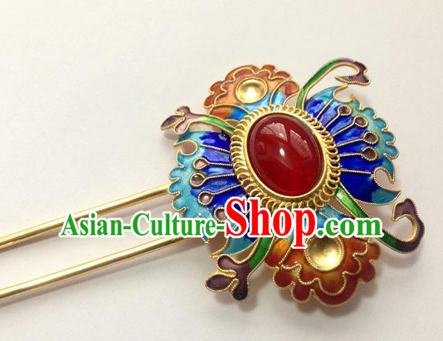 Chinese Traditional Ancient Handmade Cloisonne Hairpins Hair Accessories Hair Clip for Women