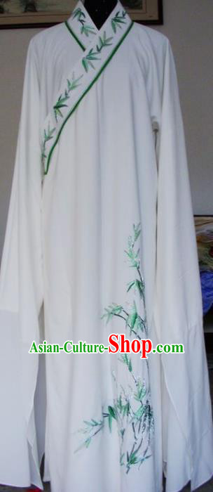 Chinese Traditional Shaoxing Opera Niche Clothing Peking Opera Scholar Printing Bamboo Robe for Adults