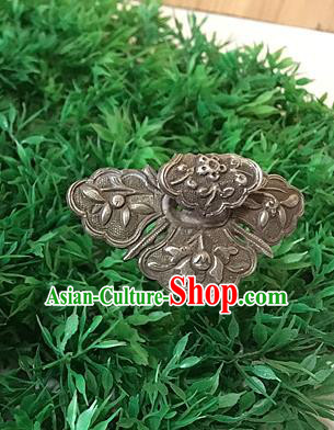 Chinese Traditional Ancient Hairpins Hair Accessories Carving Sliver Hair Clip for Women