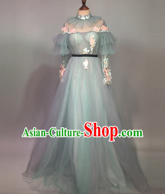 Top Grade Stage Performance Customized Costume Models Catwalks Veil Full Dress for Women
