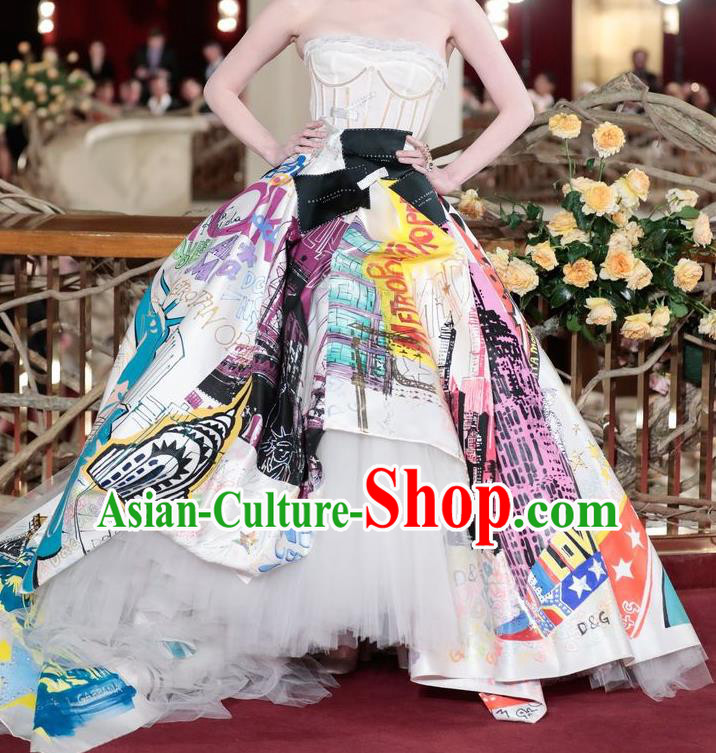 Top Grade Stage Performance Palace Countess Customized Costume Models Catwalks Full Dress for Women