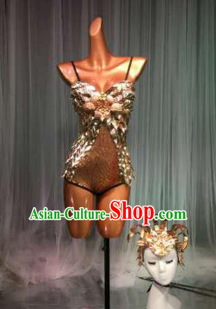 Top Grade Pub Singer Stage Performance Customized Sexy Costume Halloween Models Catwalks Clothing for Women