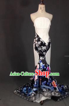 Top Grade Compere Stage Performance Customized Costume Models Catwalks Mermaid Full Dress for Women