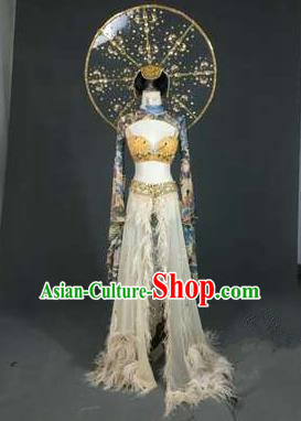 Top Grade Models Catwalks Costume and Prop Compere Stage Performance Full Dress for Women