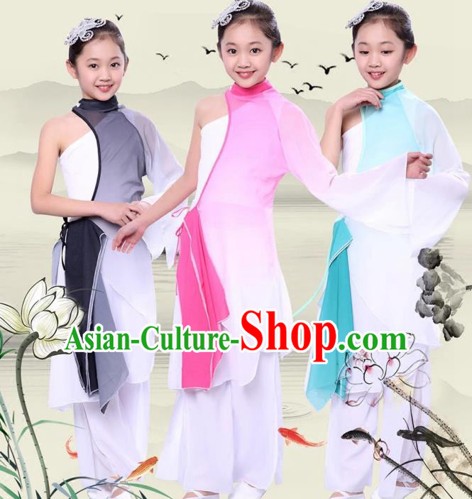 Children Models Show Costume Chinese Stage Performance Folk Dance Clothing for Kids