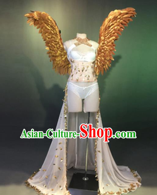 Top Grade Stage Performance Models Show Wings Brazilian Rio Carnival Costume for Women