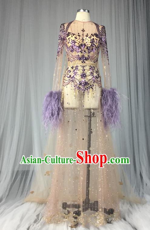 Top Grade Models Show Costume Stage Performance Catwalks Full Dress for Women