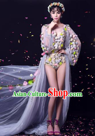 Top Grade Models Show Costume Stage Performance Catwalks Flowers Fairy Clothing for Women