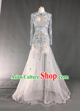 Top Grade Models Show Costume Stage Performance Catwalks Compere Mermaid Full Dress for Women