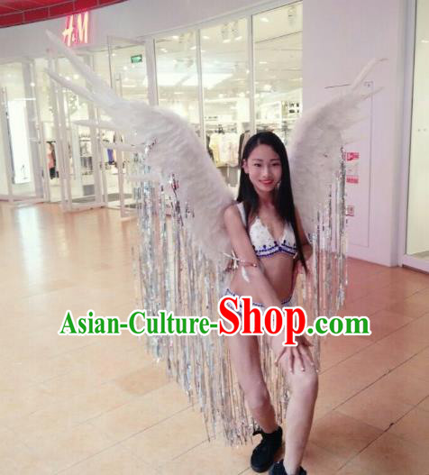 Top Grade Stage Performance Samba Dance Costumes Brazilian Carnival Catwalks Clothing and Feather Wings for Women