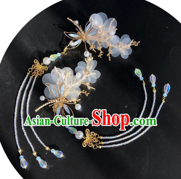 Chinese Traditional Hair Accessories Butterfly Tassel Hair Stick Ancient Hairpins for Women