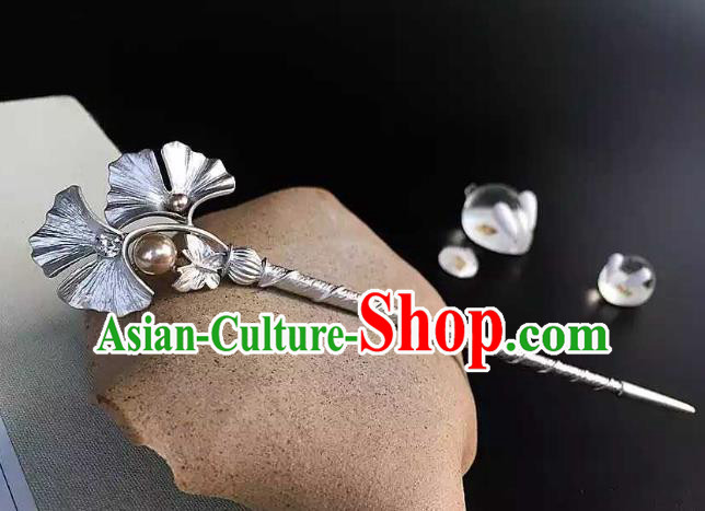 Chinese Traditional Hair Accessories Ancient Hanfu Ginkgo Leaf Hair Clip Hairpins for Women
