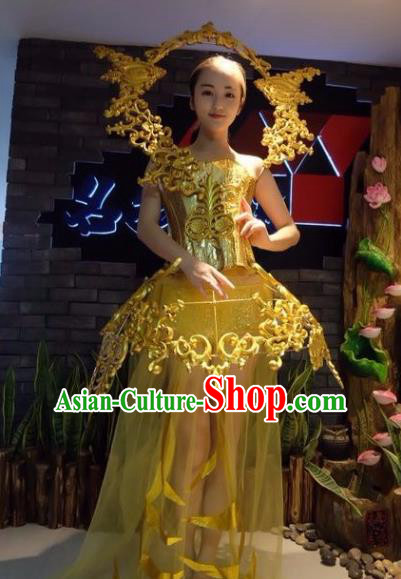 Top Grade Catwalks Costume Halloween Stage Performance Brazilian Carnival Dress for Women