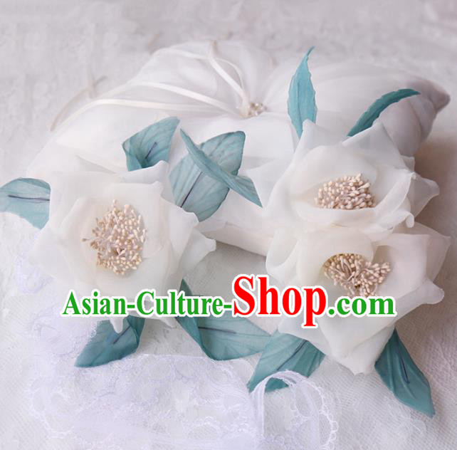 Top Grade Wedding Hair Accessories Bride White Flower Hair Claws for Women
