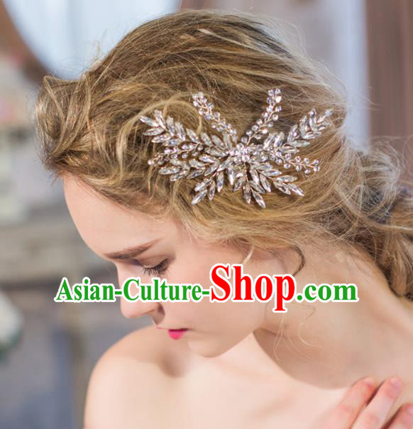 Top Grade Wedding Hair Accessories Bride Crystal Hair Claw for Women