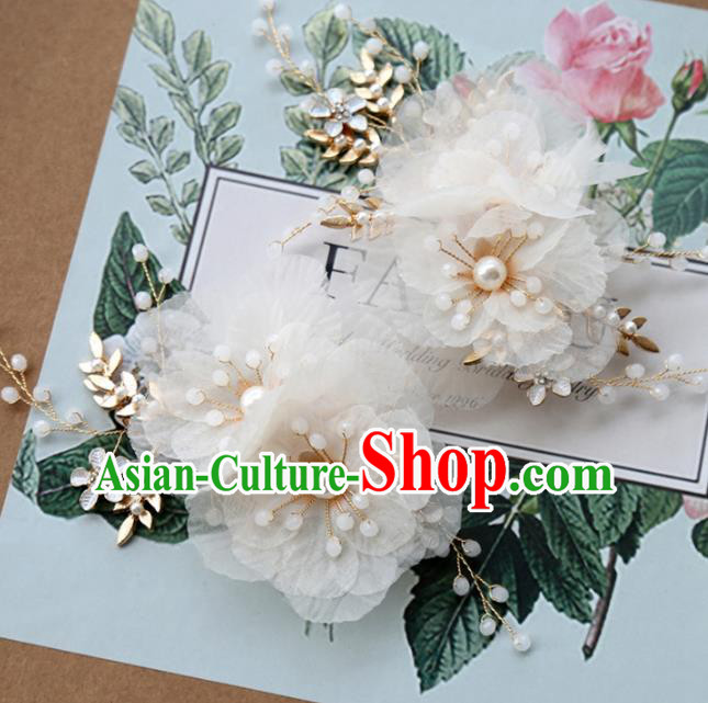 Top Grade Wedding Hair Accessories Bride Silk Flowers Hair Stick for Women